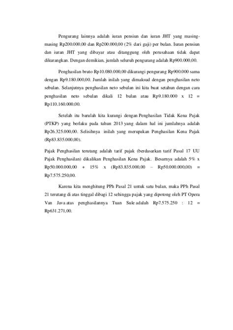 iuran jht adalah pengurang pajak dikenakan pajak saat pajak penghasilan pasl 21 22 24 25 dan 26