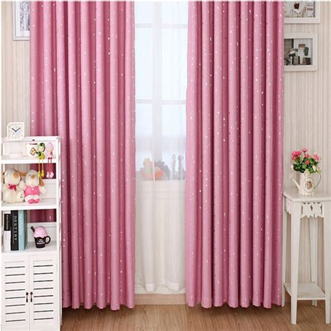girls room blackout curtains stars patterns girls pink bedroom curtains for blackout