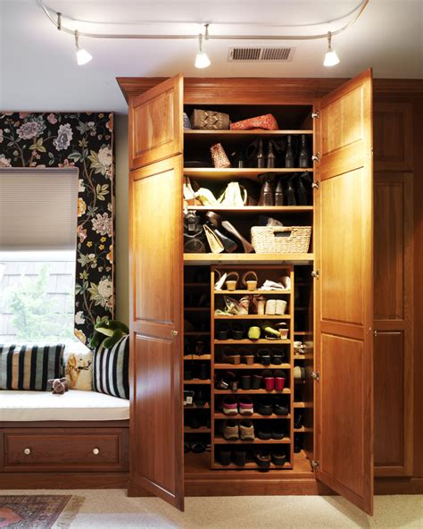 Shoe Closet With Doors Sublime Shoe Cabinets With Doors Decorating Ideas Gallery In Closet Traditional Design Ideas