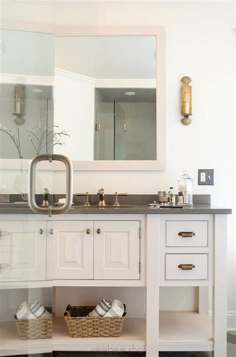 white cabinets with antique brass hardware cabinets with brass hardware traditional bathroom