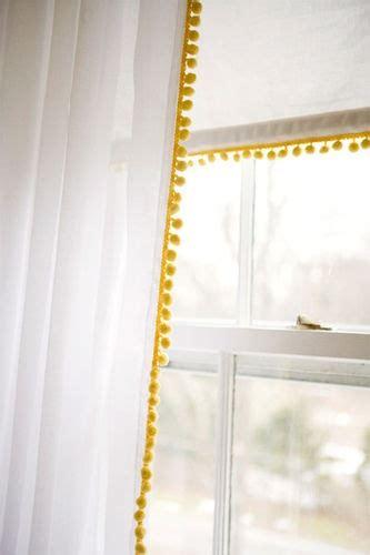 diy pom pom curtains pom pom curtains diy ideas pinterest