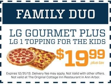 cottage inn pizza coupon pizza coupons deals cottage inn pizza