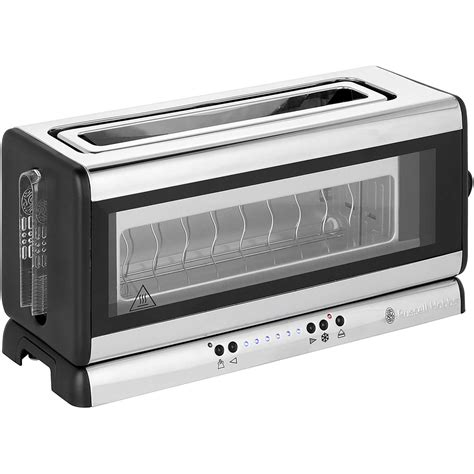 Russell Hobbs Toasters Russell Hobbs Glass Line 21310 2 Slice Toaster Silver
