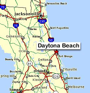 maps of the daytona area by east coast directory