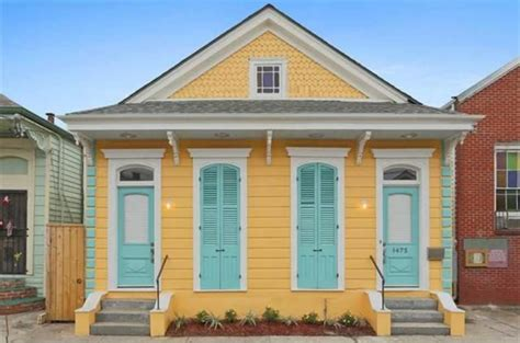 Cottages In Bright by New Orleans Cottage For Sale Is Bright Yellow And Blue