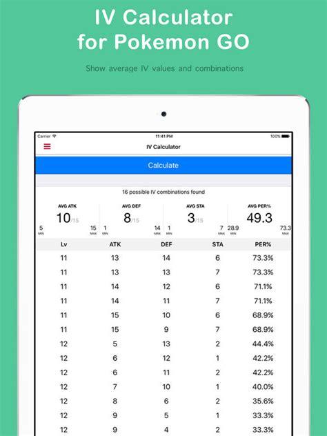 calculator pokemon go toutes les applis du type calculateur pok 233 mon go