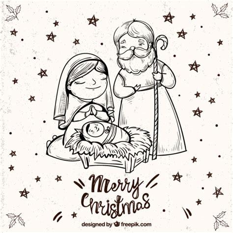 imagenes de navidad vector fondo de feliz navidad con boceto de portal de bel 233 n