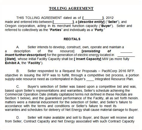 toll manufacturing agreement template tolling agreement