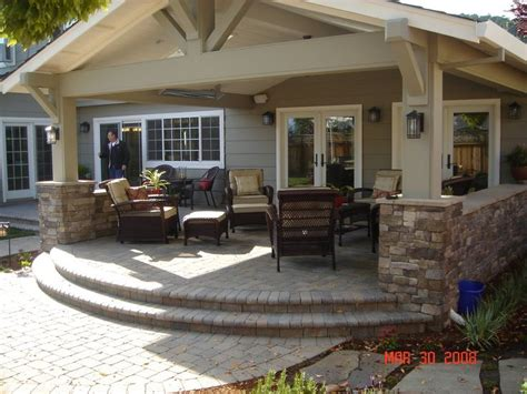 Backyard Porches by Craftsman Style Patio Cover The One With The Great