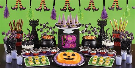 halloween themes birthday witch s crew sweets treats party city