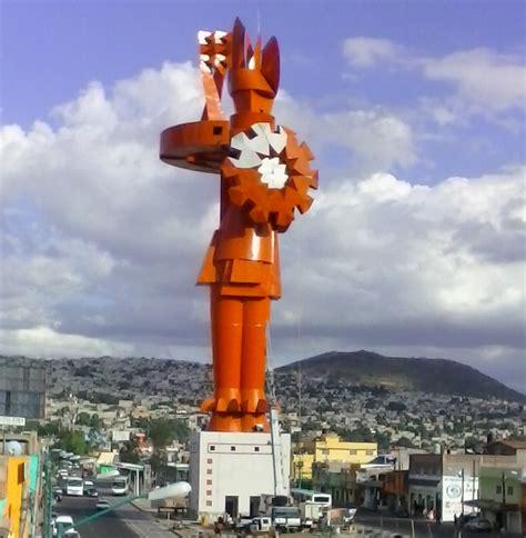 noticias chimalhuacan estado de mxico inaugurar 225 n escultura del guerrero chimalli en