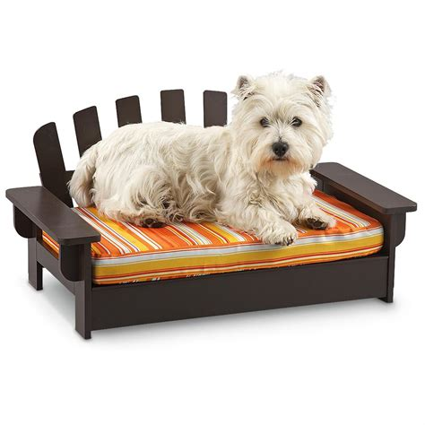 wood dog bed wood adirondack pet bed 221570 kennels beds at