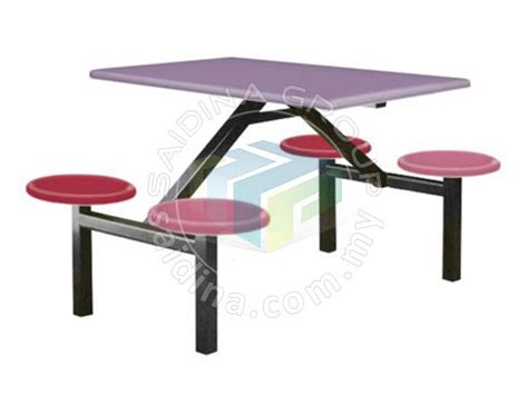 Meja Plastik Medan Pakej Set Meja Dan Kerusi Medan Selera Restoran Food Court Restaurant Furniture Set