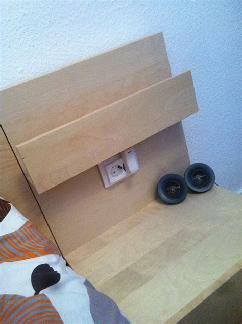 Malm Side Table Socket In The Malm Nightstand Ikea Hackers