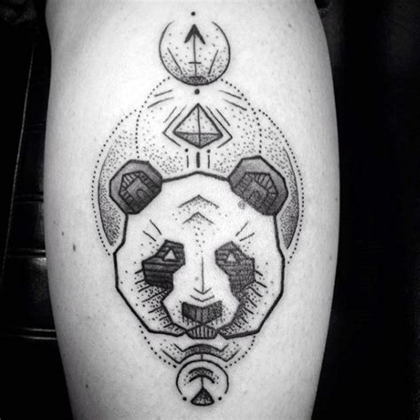 tattoo panda geometric 100 panda bear tattoo designs for men manly ink ideas
