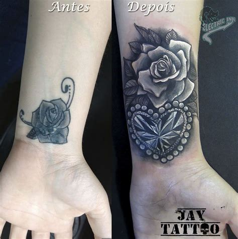rose tattoo cover cover up cobertura de tatuagem rosas e diamante cora 231 227 o