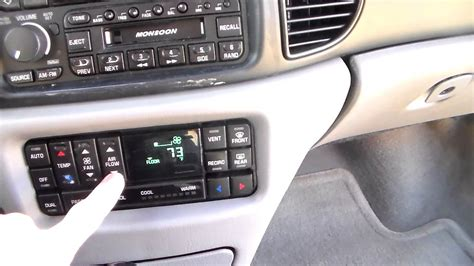 automotive air conditioning repair 1994 buick lesabre parental controls 1997 03 buick regal climate control display repair part 3 youtube
