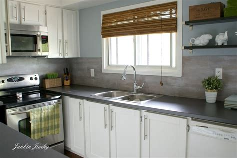 Glass Mosaic Tile Kitchen Backsplash Ideas Wood Plank Kitchen Backsplash At Junkin Junky Ideas