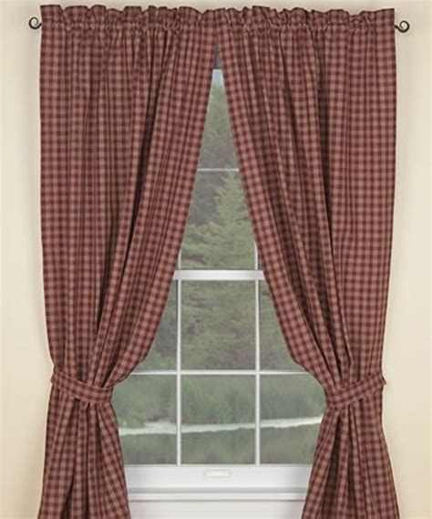 sturbridge plaid curtains wine sturbridge lined curtains 72x63