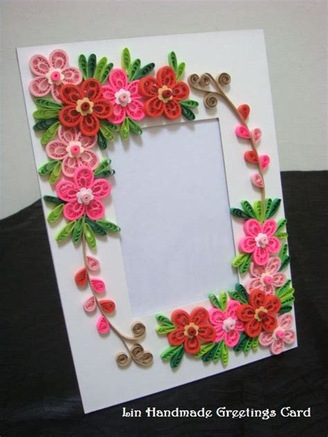 Handmade Paper Photo Frames Designs - quilled photo frames time them it
