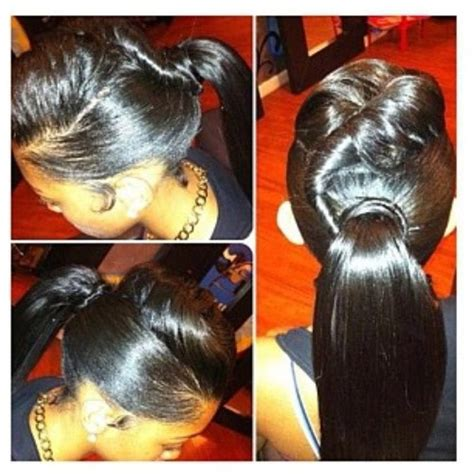 sew in ponytails for black women versatile hairstyle natural hair pinterest