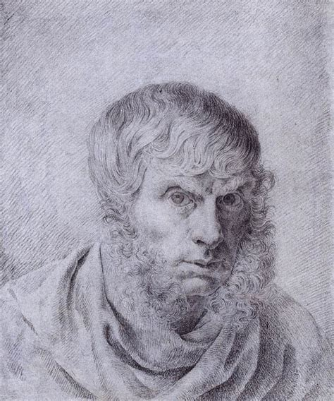 Artistic Drapery Self Portrait By Friedrich Caspar David