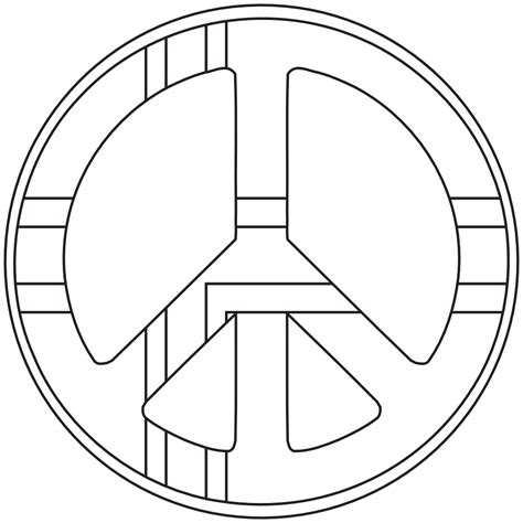 printable peace sign coloring pages coloring pages