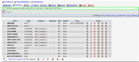 database table design 103 payroll system database design using mysql