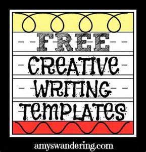 Creative Writing Template by Creative Writing Templates S Wandering