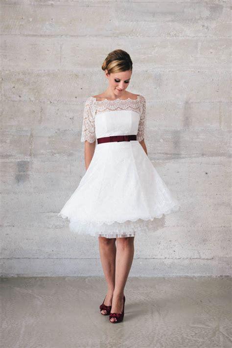 brautkleid petticoat kurzes spitzenkleid im 50er jahre stil