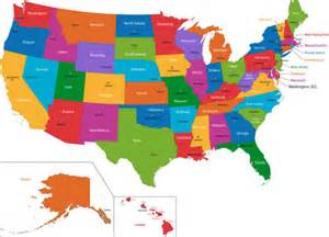 size map of the united states location size and extent united states located area