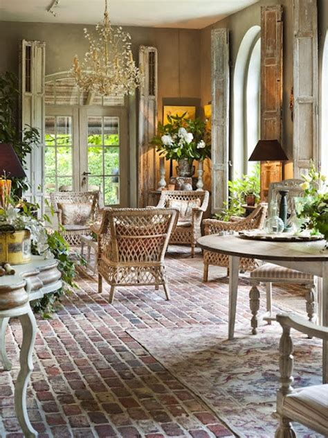 french country style homes interior the french tangerine brick flooring