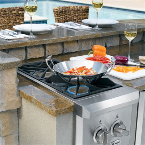 Outdoor Kitchen Gas Burner by Outdoor Cooking Center Ge Monogram Outdoor Cooking Systems