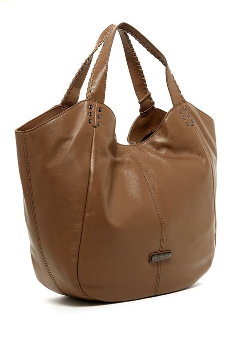 Get Look Hiltons Fiore Tote by Fiore Bellmore Leather Tote Nordstrom Rack