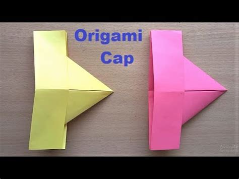 Paper Caps How To Make - amazing origami paper hat how to make paper cap