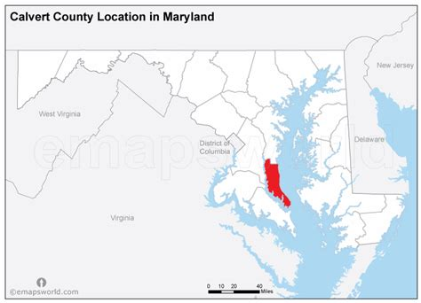 map of calvert county md calvert county images