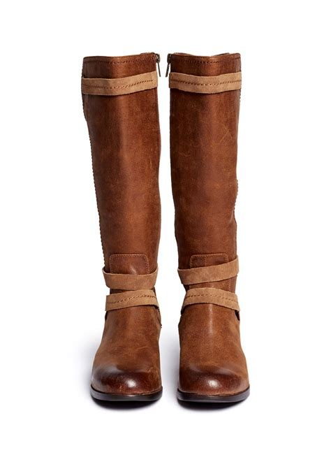 brown leather ugg boots ugg darcie leather boots in brown lyst