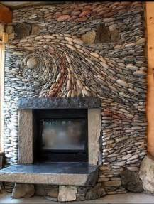 fireplace river rock spectacular river rock fireplace for the home