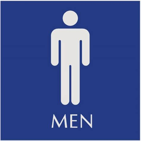 bathroom men sign printable bathroom sign