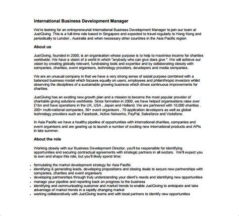 commercial model job description business development job description template 10 free