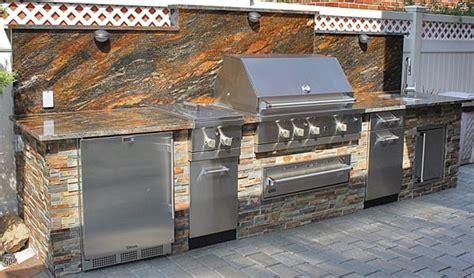 viking outdoor kitchens viking outdoor kitchen with stone veneer installed in