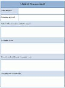 credit risk assessment template assessment template for chemical risk exle of chemical