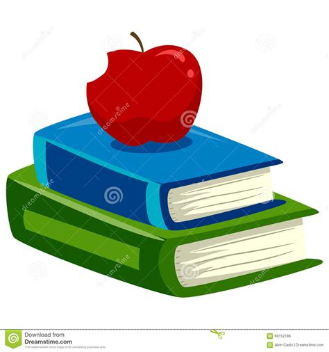 Apple Top stack of books with apple on top stock vector image