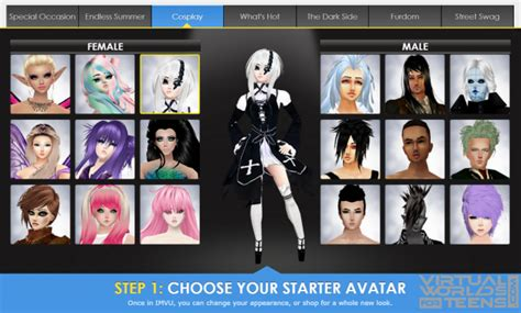 create a avatar imvu worlds for