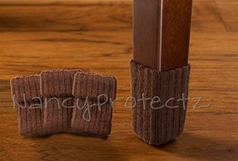 Chair Leg Pads For Hardwood Floors by Small Chocolate Brown Chair Leg Floor Protector Pads 8 Pack Furniture Socks