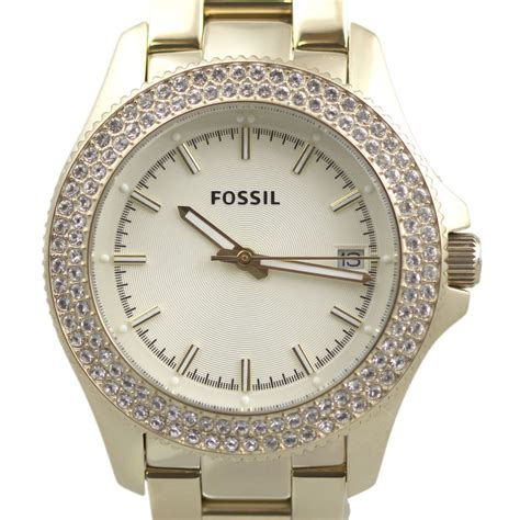 Womens Fossil by Fossil Womens Retro Traveler Stainless Steel