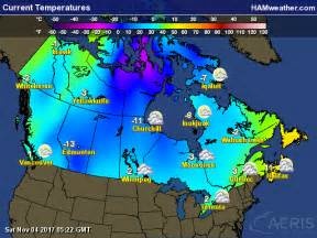 us and canada temperature map canadian weather global current conditions