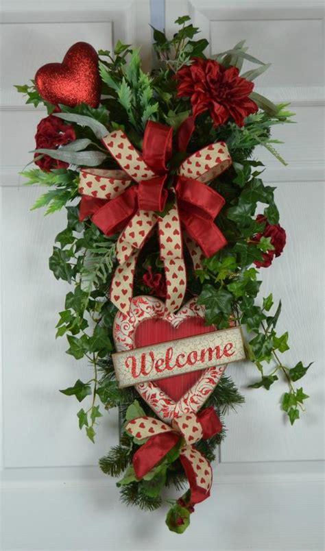 valentines day wreath valentines wreath  front door