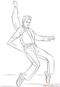 How To Draw Elvis Presley Step By Step Drawing Tutorials Elvis Coloring Pages