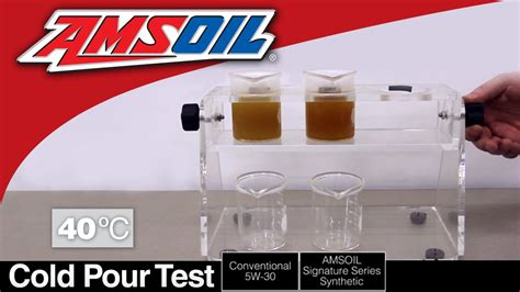 synthetic vs conventional cold pour test amsoil synthetic versus conventional